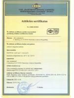 FLRYW-B sertifikatas