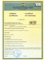 H05V-K certificate of comformity