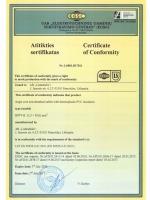 H07V-K  certificate of comformity