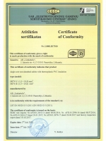 H07V-U & H07V-R certificate of comformity